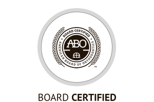 ABO Certified Horizontal Button at Hannah Orthodontics in Olathe Emporia Lenexa/Shawnee Louisburg Kansas City, KS