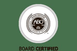 ABO Certified Horizontal Button at Hannah Orthodontics in Olathe Emporia Lenexa/Shawnee Louisburg Kansas City, KS