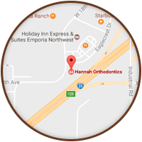 Emporia Map Hannah Orthodontics