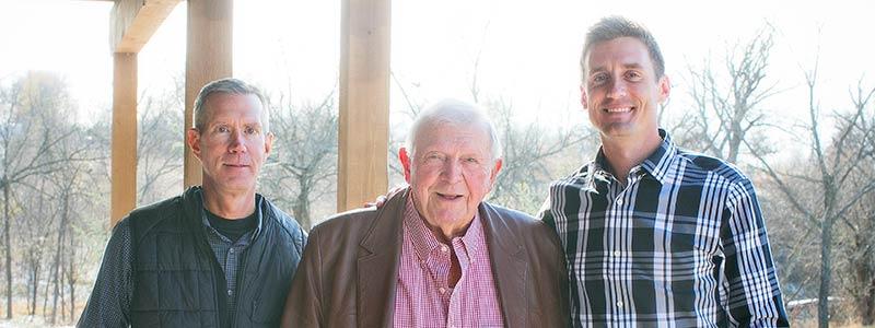 Dr. Joe Hannah, Dr. Stan Radke, and Dr. Richard Hannah